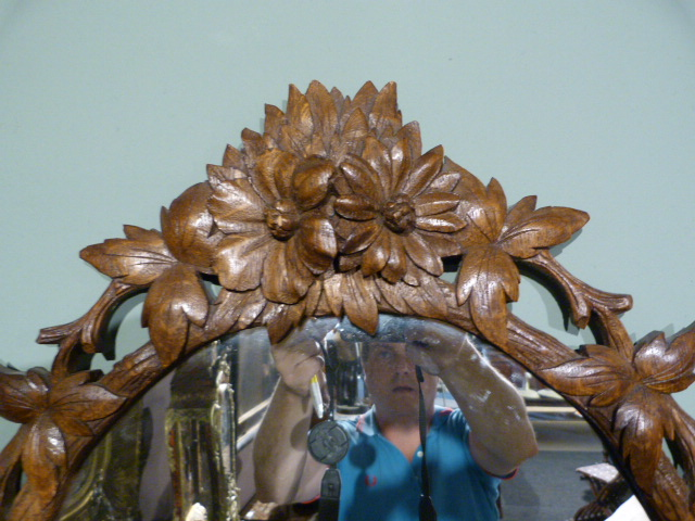 jb antique black forest mirrors