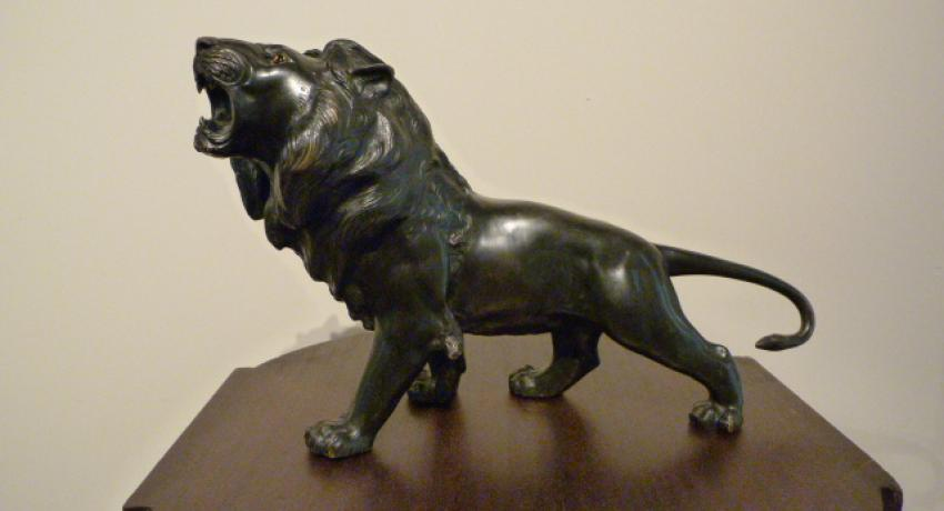 Meiji lion japan jb antique